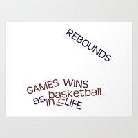 Rebounds Art Print