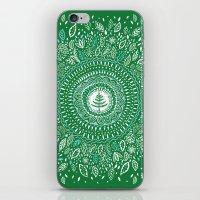 Christmas Tree Mandala iPhone & iPod Skin