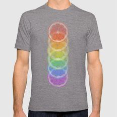 Colorfruits Mens Fitted Tee Tri-Grey SMALL
