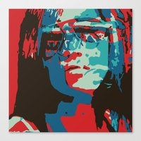 Portrait In Red Canvas Print