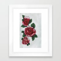 New roses Framed Art Print