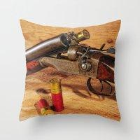 Double Barrel  Throw Pillow