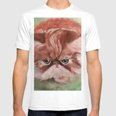 Grumpy Persian Mens Fitted Tee White SMALL
