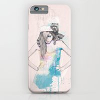 iPhone & iPod Case featuring Raccoon Love by Ariana Perez