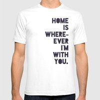 With You Mens Fitted Tee White SMALL