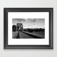 Ways to cross the river Framed Art Print