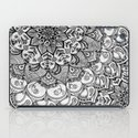 Shades of Grey - mono floral doodle iPad Case