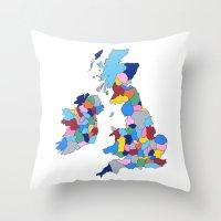 England, Ireland, Scotland & Wales Throw Pillow