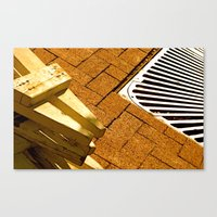 Construction Grid Canvas Print