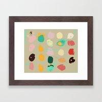 Tops of Ice Cream Cones Like Toupées Framed Art Print