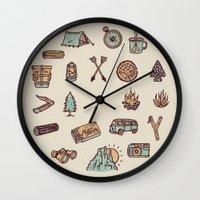 Lets Go Camping Wall Clock