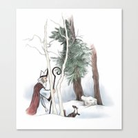 St Nicholas And The Pine… Canvas Print