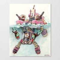 The Submarine Squad Canvas Print
