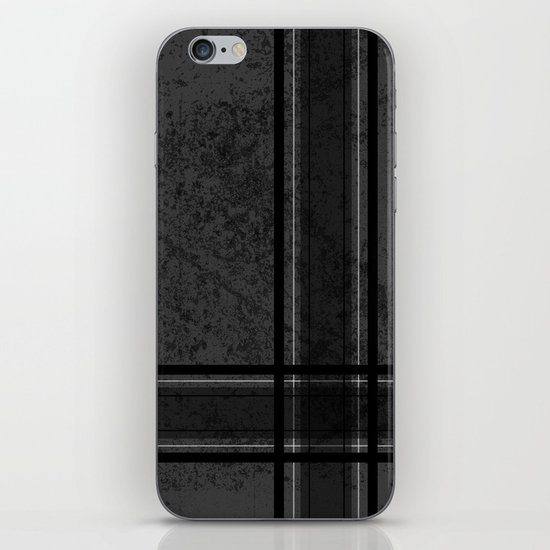 Grungy Grey Plaid iPhone & iPod Skin