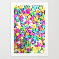 CANDY HEARTS - For Iphon… Art Print