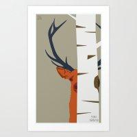 Strange Buck Art Print
