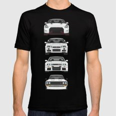 SKYLINE GT-R Black SMALL Mens Fitted Tee