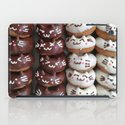 Smiling faces chocolate cream doughnuts iPad Case