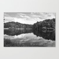 Clouds On The Lake Canvas Print