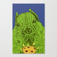 cthulhu wants a cookie Canvas Print
