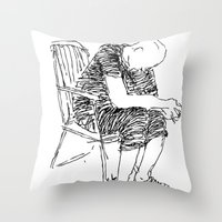 The Sitter Throw Pillow