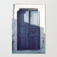 Santorini Door I Canvas Print