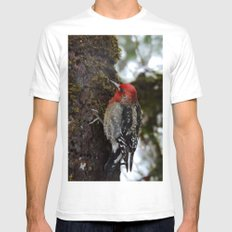 Red-Breasted Sapsucker I… Mens Fitted Tee White SMALL