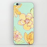 Summer Flowers Blue iPhone & iPod Skin