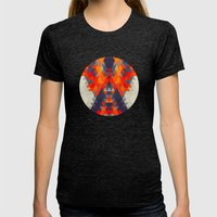 Abstract Triangle Mountain Womens Fitted Tee Tri-Black SMALL