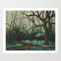 The Path To The Pond Art Print