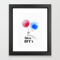 We're BFF's Framed Art Print