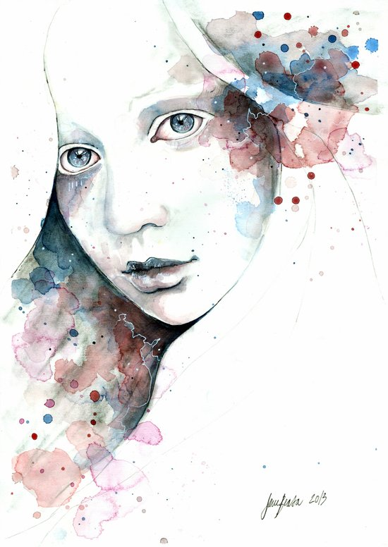 Unfinished Sympathy, watercolor & pencil study Art Print