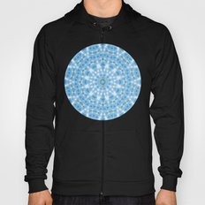 Blue Satin Meditation Mandala Hoody