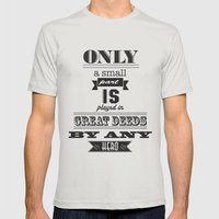 Lord Of The Rings Mens Fitted Tee Silver SMALL