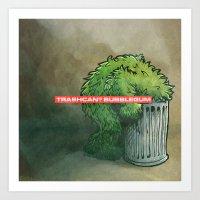 Trashcan : Bubblegum Art Print