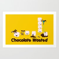 Chocolate Wasted (yellow… Art Print