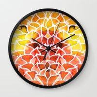 Leaves / Nr. 8 Wall Clock