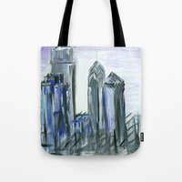 Gray Philadelphia Skylin… Tote Bag