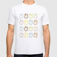 Clocks Pattern Mens Fitted Tee Ash Grey SMALL