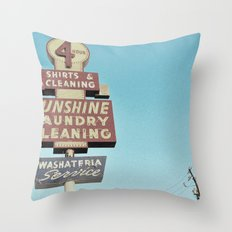 Sunshine Laundry Cleaning Throw Pillow