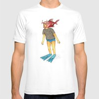 Pescado Mens Fitted Tee White SMALL