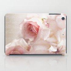 Pink pastel roses iPad Case