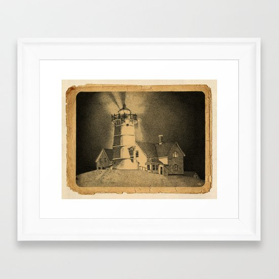 Night Light Framed Art Print