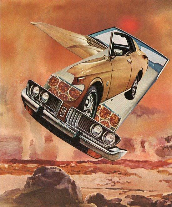 serene pleasure of speed - goofbutton collaboration #4 Canvas Print