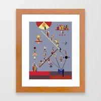 the ladder Framed Art Print
