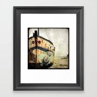 Boat Wreck #1 Framed Art Print