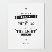 Leonard Cohen, Motivational Quote Canvas Print