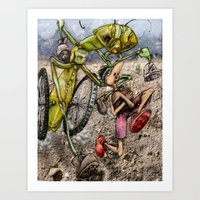 Outrunning The Many-Boot… Art Print