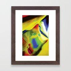 Manifestation in Yellow Framed Art Print