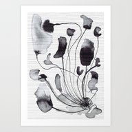 Ink Flowers Art Print